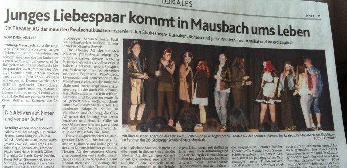 Aachener Nachrichten und Aachener Zeitung vom 25.6.2015