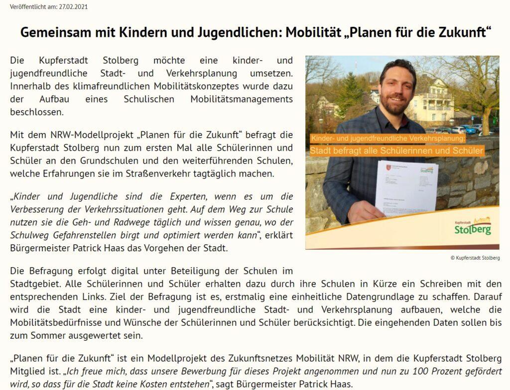 """NRW-Modellprojekt """"Planen für die Zukunft"""""""